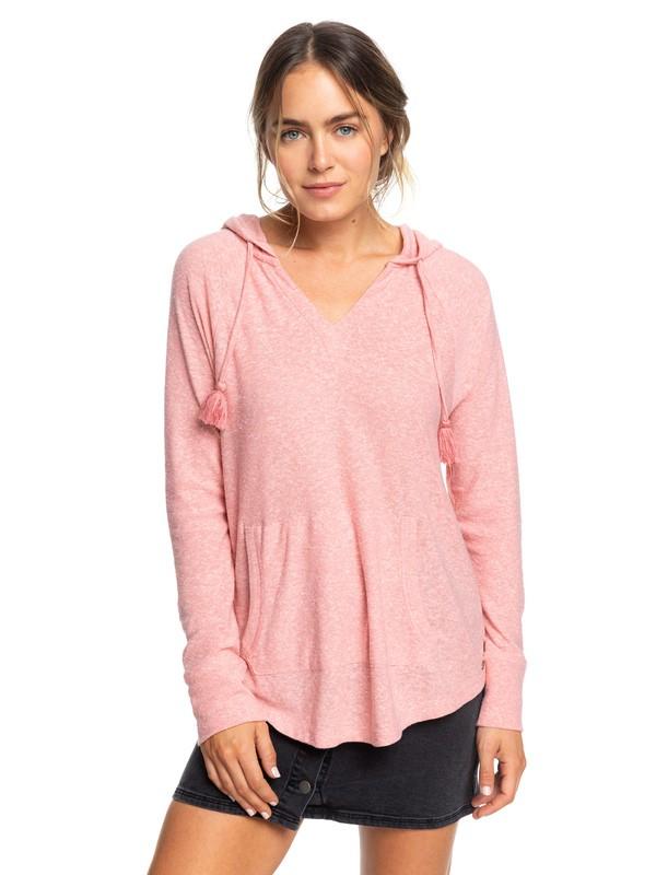 0 Long Night Hooded Long Sleeve Top Pink ERJKT03561 Roxy