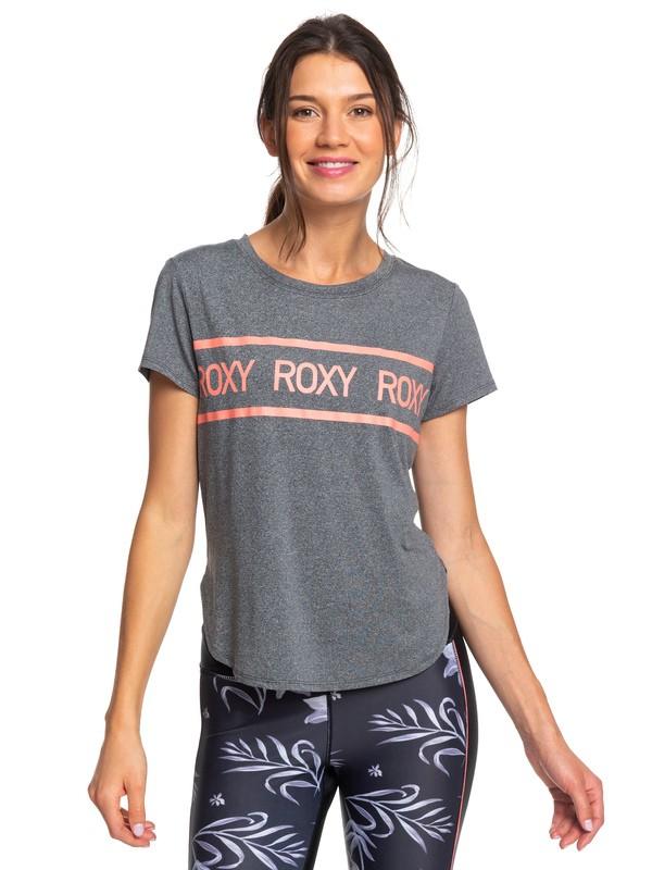 0 Shine On Me - T-shirt de sport pour Femme Noir ERJKT03576 Roxy