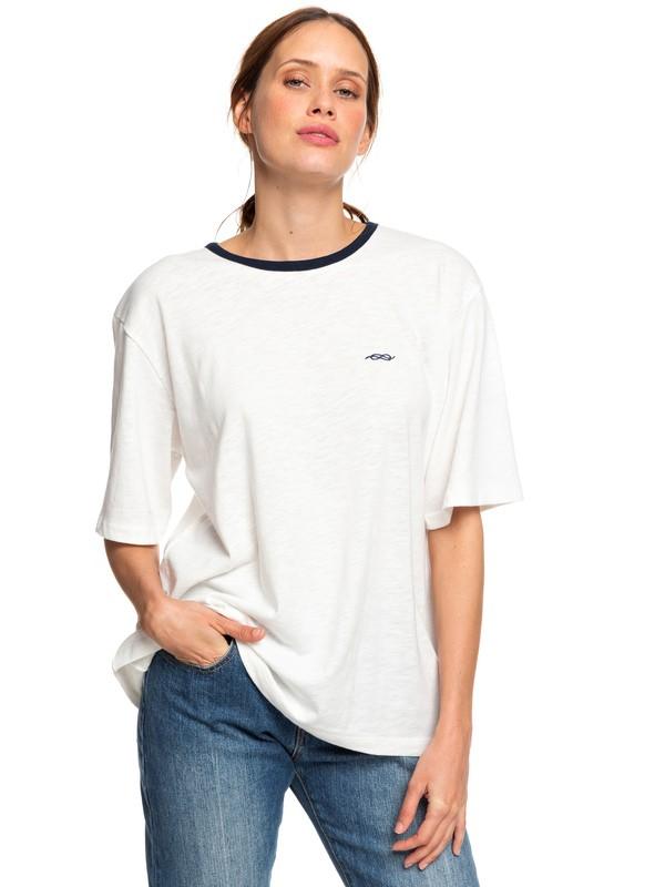 0 A Day In My Life - T-shirt boyfriend pour Femme Blanc ERJKT03594 Roxy