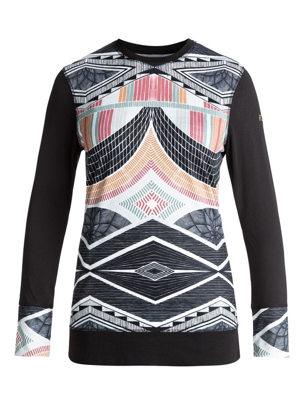 0 Daybreak Technical Long Sleeve Base Layer Black ERJLW03000 Roxy