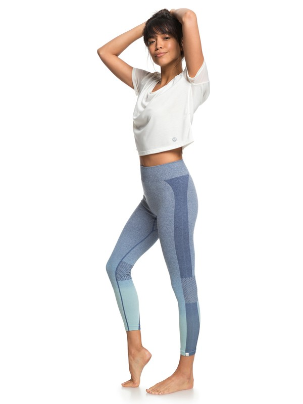 0 Passana 2 - Technical Leggings for Women Blue ERJNP03193 Roxy
