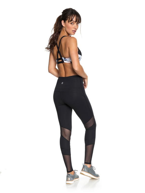 0 Mad About You Yoga Leggings Black ERJNP03195 Roxy