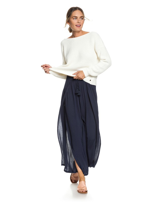 0 Kuta Wide Leg Pants Blue ERJNP03209 Roxy