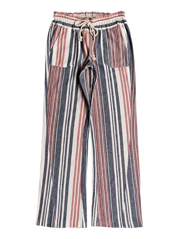 0 Oceanside Flared Linen Pants  ERJNP03210 Roxy