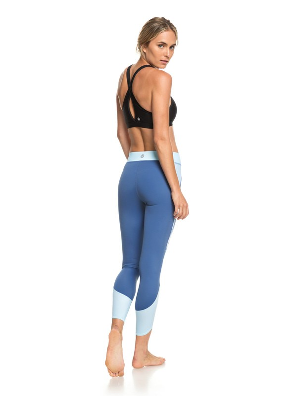 0 Sandy Vocation - UPF 50 7/8 Workout Leggings for Women Blue ERJNP03214 Roxy