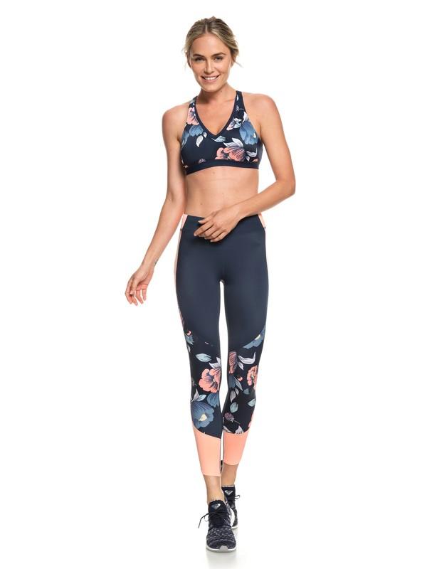 0 Sandy Vocation - 7/8-Workout-Leggings mit UPF 50 für Frauen Blau ERJNP03214 Roxy