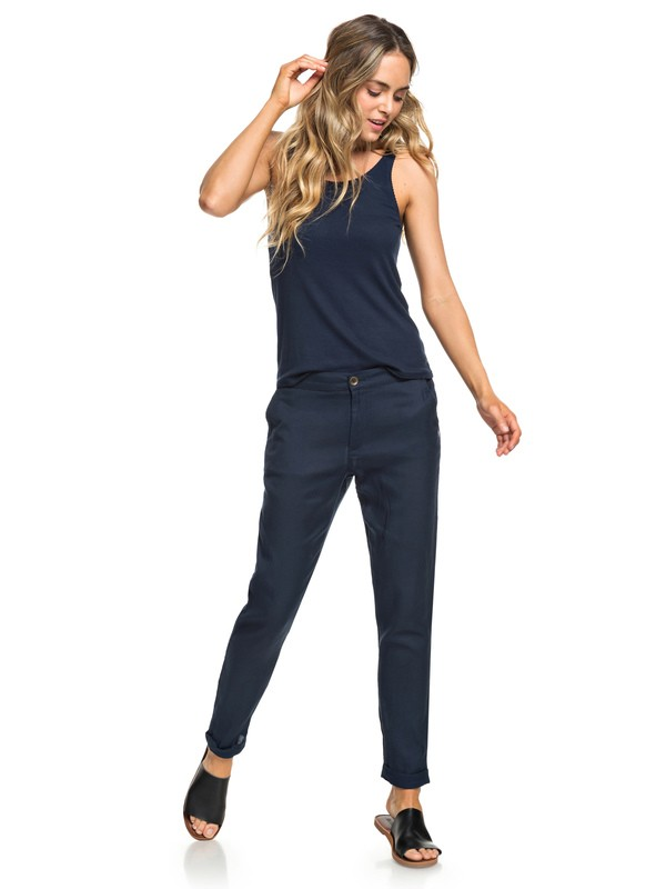 0 Girly Men - Hose mit Tapered Fit für Frauen Blau ERJNP03222 Roxy