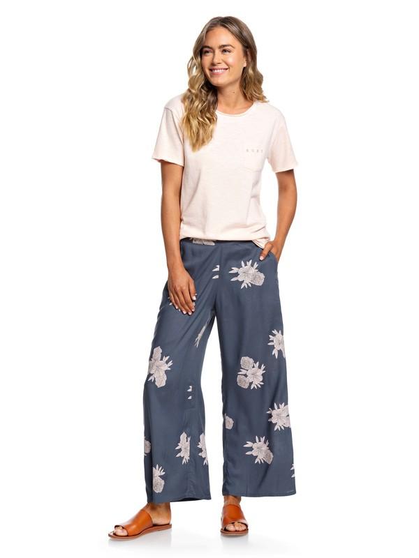 0 Midnight Avenue - Weite Viskose-Hose für Frauen Schwarz ERJNP03227 Roxy