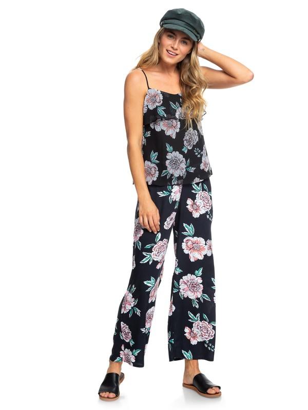 0 Midnight Avenue Wide Leg Viscose Pants Pink ERJNP03227 Roxy