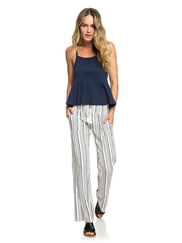 0 Oceanside Beach Pants White ERJNP03236 Roxy