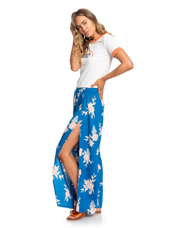 0 Adventure Wide Leg Pants Blue ERJNP03239 Roxy