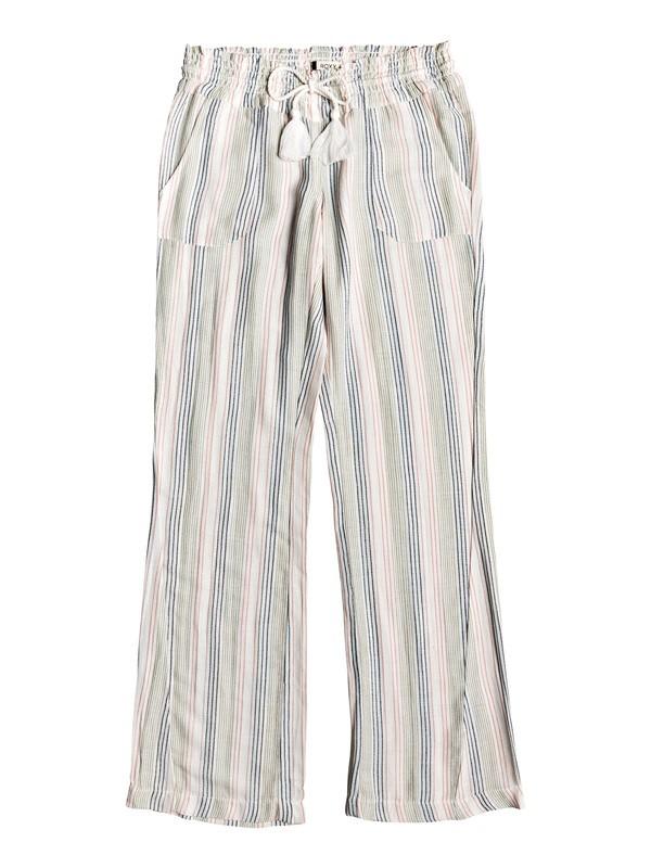 0 Oceanside Flared Pants White ERJNP03243 Roxy