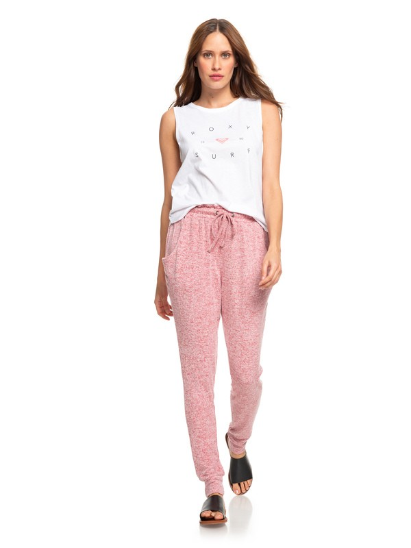 0 Just Yesterday Super Soft Joggers Red ERJNP03252 Roxy
