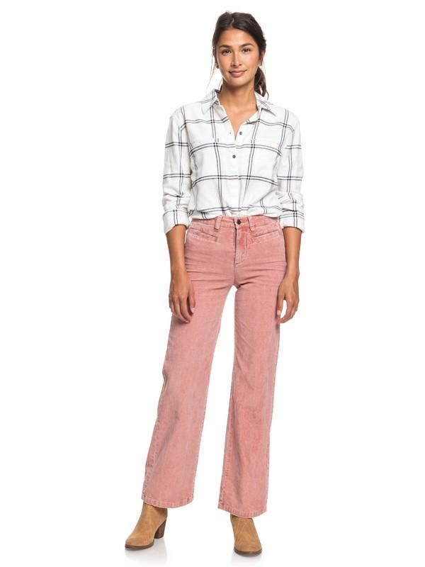 0 Discover People Corduroy Flared Pants Pink ERJNP03263 Roxy