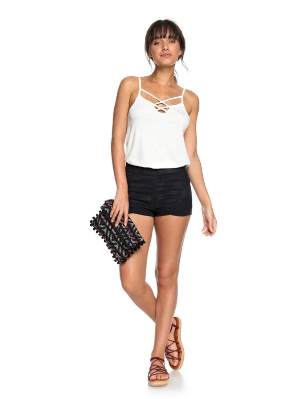 0 Hot Spring Arizona Faux Suede Shorts Black ERJNS03161 Roxy
