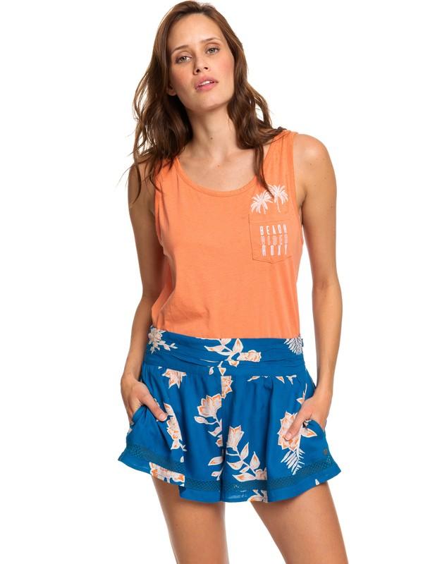 0 Boho Dreams Viscose Shorts Blue ERJNS03219 Roxy