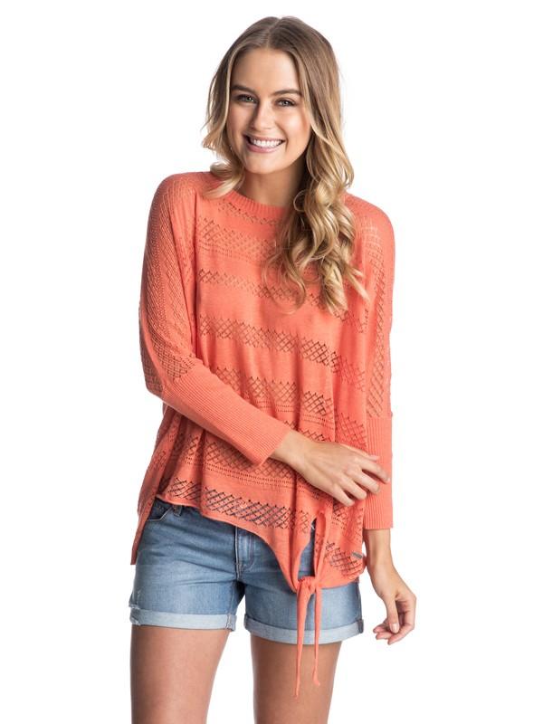0 Aeria Side Knot Detail Sweater  ERJSW03041 Roxy