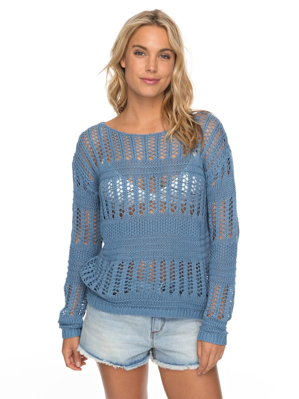0 Blush Seaview - Pullover für Frauen Blau ERJSW03241 Roxy
