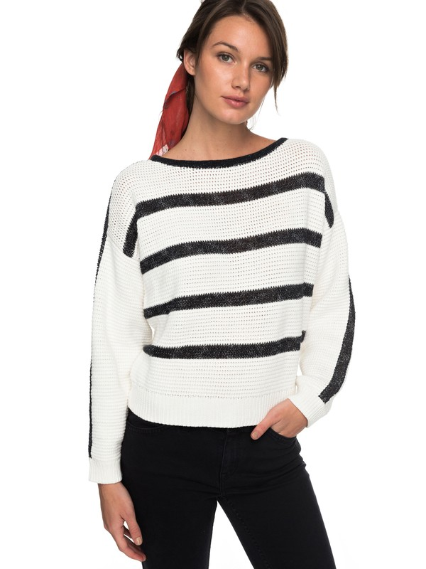 0 Balmy Nights - Pull col rond pour Femme Blanc ERJSW03243 Roxy