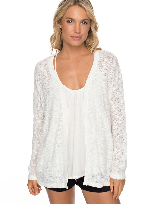 0 Livin Sunday Cardigan White ERJSW03246 Roxy