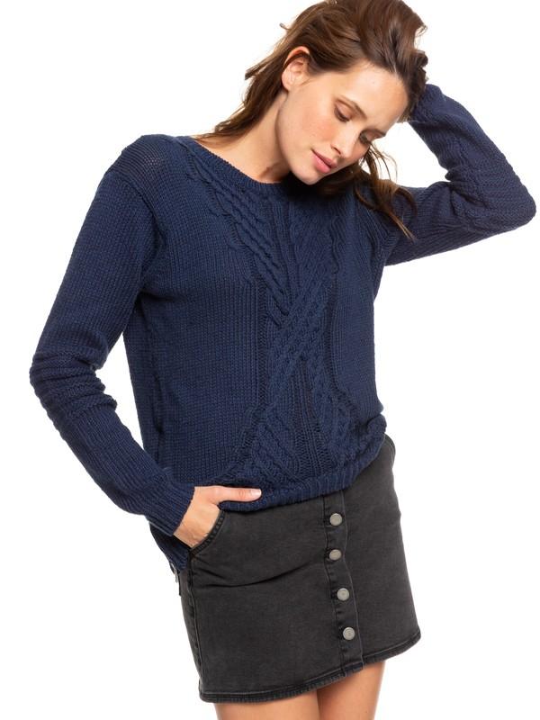 0 Glimpse Of Romance Sweater Blue ERJSW03276 Roxy