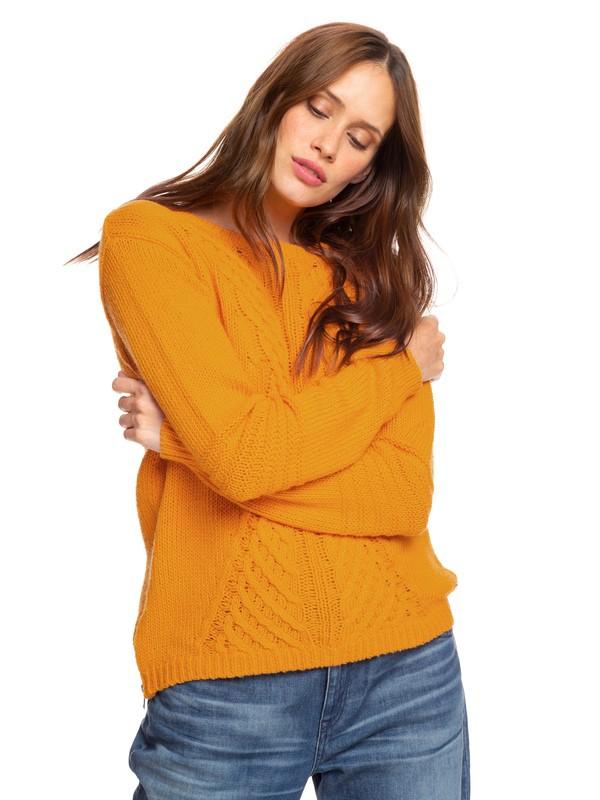 0 Glimpse Of Romance Sweater Yellow ERJSW03276 Roxy