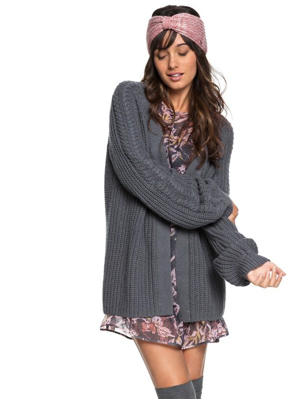 0 Long Away - Gilet long en tricot pour Femme Noir ERJSW03289 Roxy