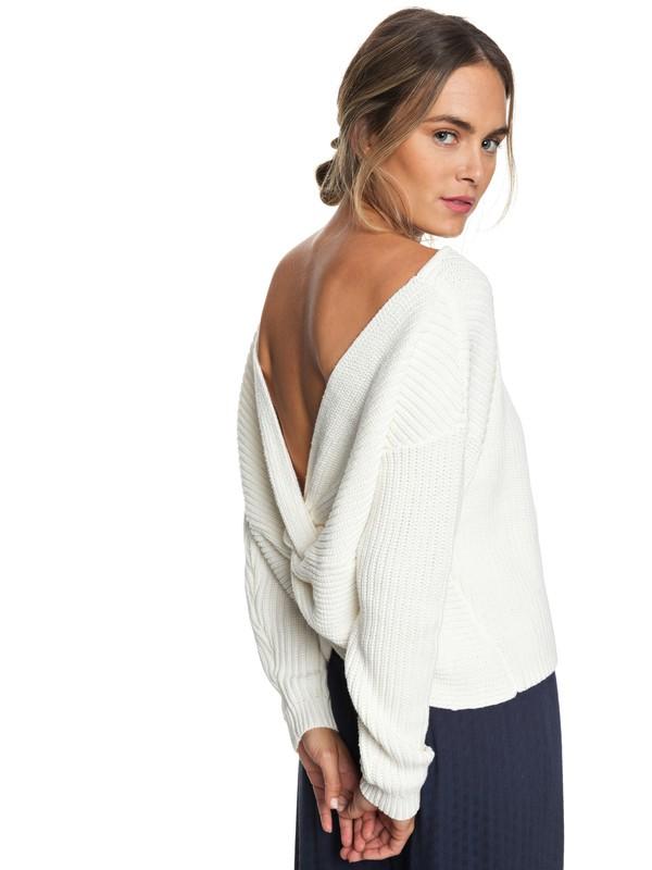 0 Bamboo Bridge Sweater White ERJSW03303 Roxy