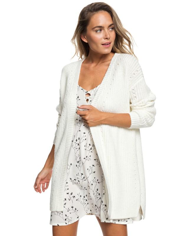 0 Ubud Colors Knitted Cardigan White ERJSW03306 Roxy