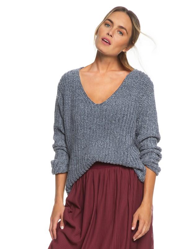 0 Padang Paradise Chenille Sweater Black ERJSW03308 Roxy