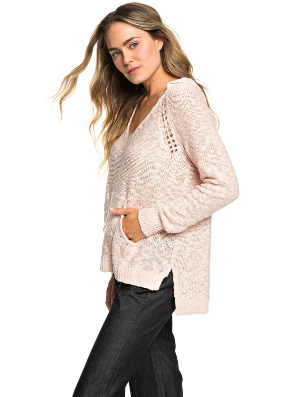 0 Airport Vibes Knitted Hoodie Pink ERJSW03312 Roxy