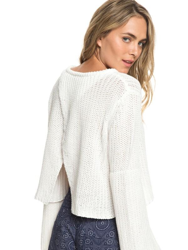 0 Boardwalk Show Wrap Back Sweater White ERJSW03314 Roxy