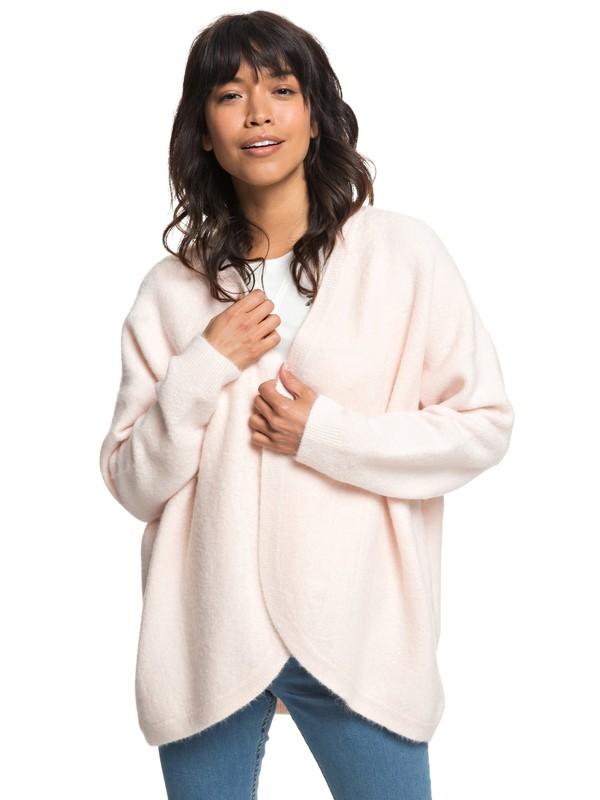 0 Delicate Mind Drop Shoulder Cardigan Pink ERJSW03325 Roxy