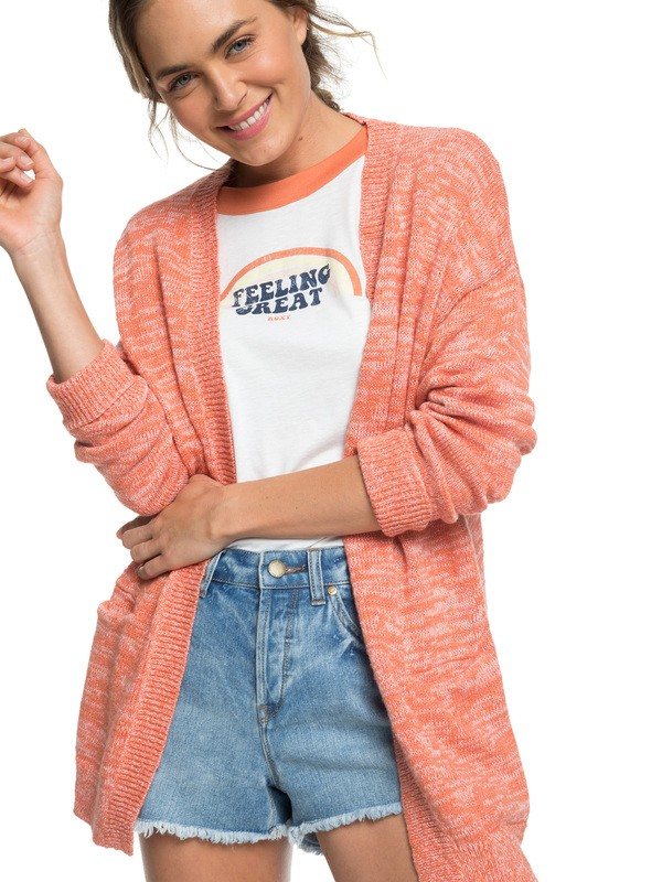 0 Valley Shades Cardigan Orange ERJSW03330 Roxy
