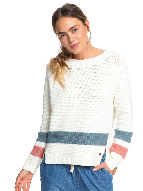 0 Travel In Colors Sweater White ERJSW03347 Roxy