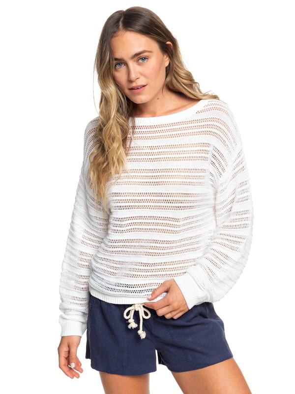 0 Sweet Amore Sweater White ERJSW03348 Roxy