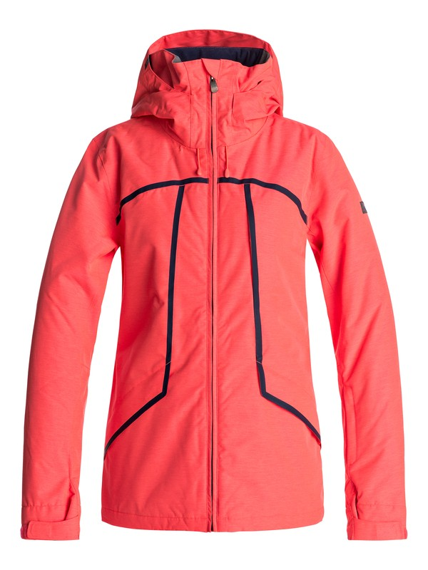 0 Wildlife - Snow Jacket for Women Orange ERJTJ03107 Roxy