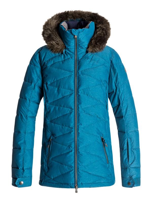 0 Сноубордическая куртка Quinn Синий ERJTJ03111 Roxy