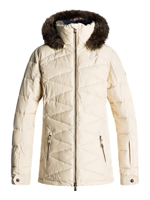 0 Сноубордическая куртка Quinn Бежевый ERJTJ03111 Roxy