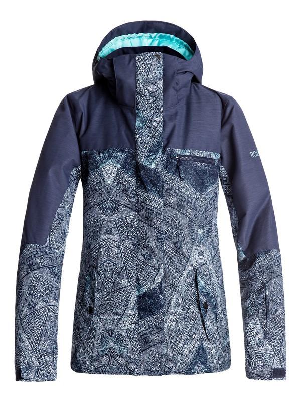 0 Сноубордическая куртка ROXY Jetty Синий ERJTJ03132 Roxy
