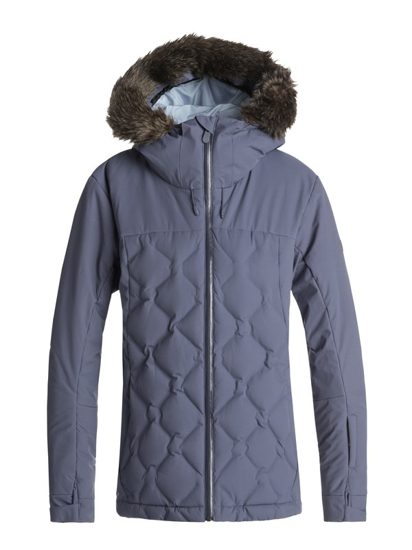 0 Breeze - Quilted Snow Jacket for Women Blue ERJTJ03154 Roxy