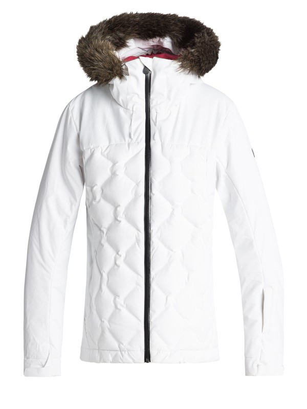 0 Breeze - Quilted Snow Jacket for Women White ERJTJ03154 Roxy