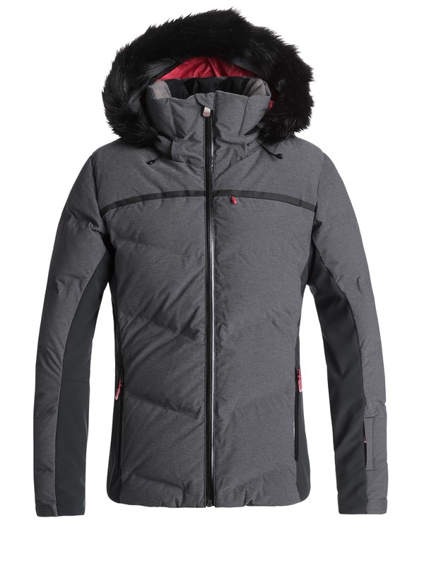 0 Snowstorm - Quilted Snow Jacket for Women Black ERJTJ03156 Roxy