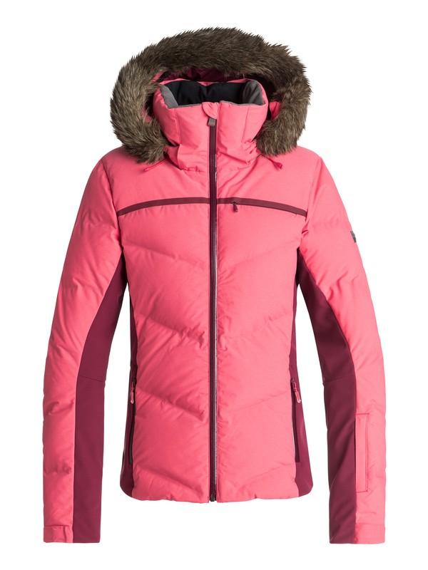 0 Snowstorm - Chaqueta De Snow Acolchada para Mujer Rosa ERJTJ03156 Roxy