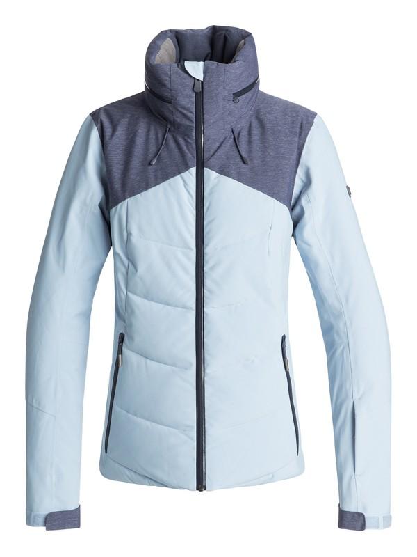 0 Flicker - Quilted Snow Jacket for Women Blue ERJTJ03157 Roxy