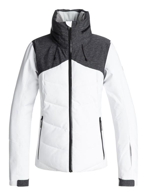 0 Flicker - Veste de snow matelassée pour Femme Blanc ERJTJ03157 Roxy