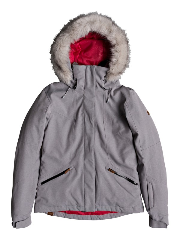 0 Atmosphere - Snow Jacket for Women Grey ERJTJ03158 Roxy