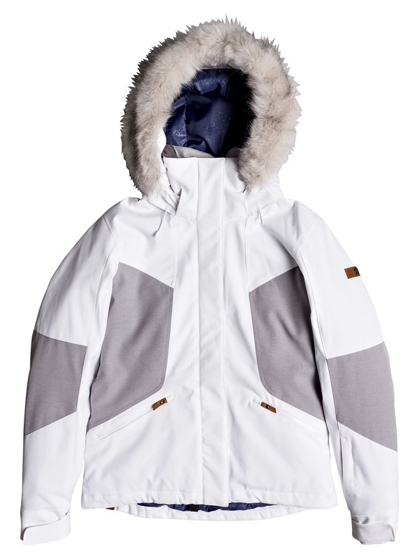 0 Atmosphere - Snow Jacket for Women White ERJTJ03158 Roxy