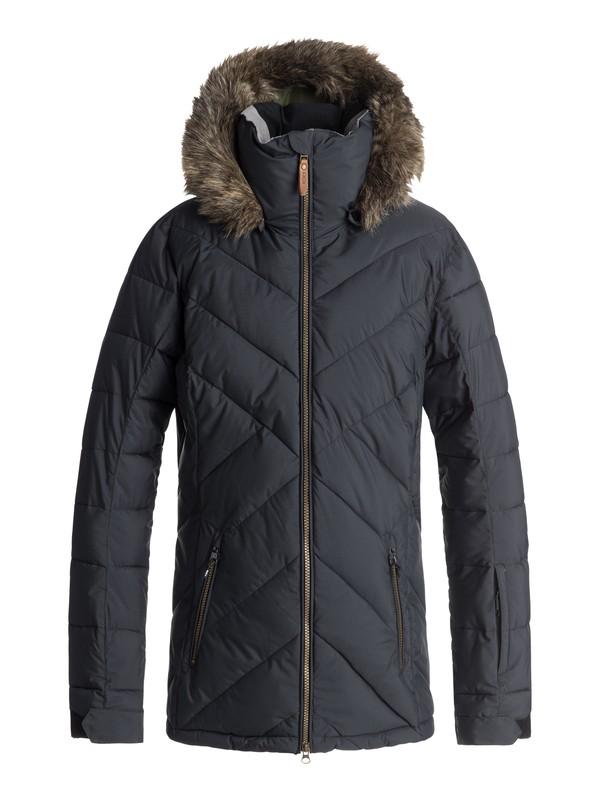 0 Quinn Snow Jacket Black ERJTJ03165 Roxy