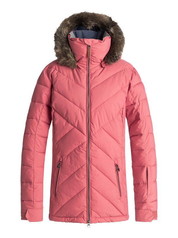 0 Quinn - Quilted Snow Jacket for Women Pink ERJTJ03165 Roxy